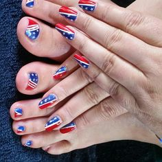 Cheryl felt patriotic for the holiday!  By Penny's Pretty's