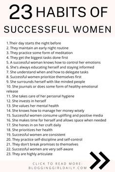 Successful Women Quotes, Habits Of Successful People, Healthy Lifestyle Habits, Productive Things To Do, Financial Success, Good Habits, Negative Emotions, Study Tips, How To Better Yourself