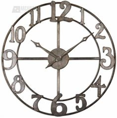 Love the open work clock from Conspicuous style shop South Shore Decorating - UM-06681