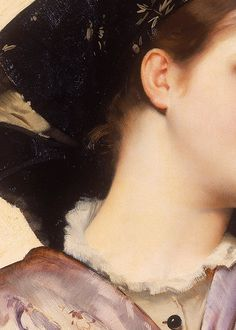 The oyster girl (Détail) Karl Gussow . 1882