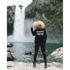 Apparel inspired by the magical PNW. WANDER FOREVER sweatshirt