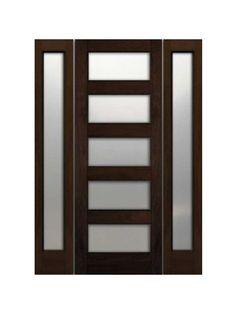 Single Exterior Doors modern door design: contemporary front doors with sidelights | for