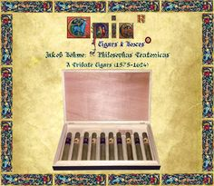 Epic®Cigars: Alchemical Foundations of Science: Jakob Böhme The Philosophus Teutonicus Tribute Cigars. EPIC® CIGARS THE ORIGINAL, UNIQUE AND AUTHENTIC  EPIC®BRAND REGISTERED IN DOMINICAN REPUBLIC, TOBACCO CATEGORY, #220651.