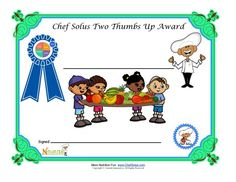 Blank Certificate For Healthy Choices For Children