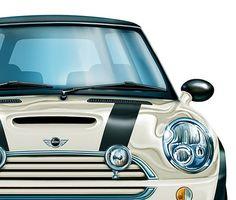 British clown car—Mini Cooper S Mini Cooper Models, Mini Cooper One, Mini One, Mini Coopers, Cooper Cars, My Dream Car, Dream Cars, Dream Big, Racing Stripes