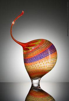 "Stephen Rolfe Powell ""Sassy Trumpeting Glance"" - Blown glass -Marta Hewett Gallery"