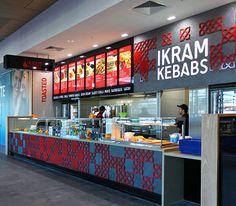 Ikram Kebabs Designed & Constructed by SD&C 2015 #Food-Design-Ikram #Kebab Shop #3D detail