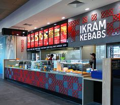 Ikram Kebabs Designed & Constructed by SD&C 2015 #Food-Design-Ikram #Kebab Shop #3D detail