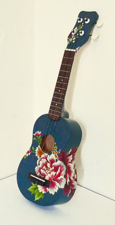 Artist-Painted Ukulele by WenHuaChen on Etsy