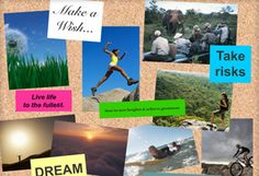 This is a tool to make vision boards--collages that clarify goals, dreams or states of being. I do them frequently with New Year's Resolutions or my birthday, but I'm looking forward to trying this virtual version, because my wall space is limited.