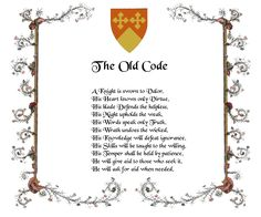 knight's oath | The Knight's Code
