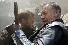 Hugo Speer as Treville Bbc Musketeers, The Three Musketeers, Hugo Speer, Tom Burke, Brothers In Arms, Lily James, Toms, Leather, Men