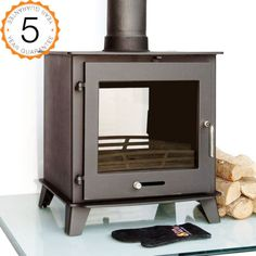 £629 Ecosy-16kw-Double-Sided-Multi-Fuel-Woodburning-Stove-Stoves-Dual-Fronted-Burner