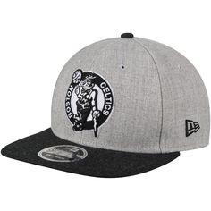 Men s Boston Celtics New Era Heathered Gray Black Action 9FIFTY Snapback Adjustable  Hat 643db7a3acd2