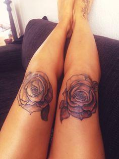 rose knee tattoo tattoos pinterest tatuaje de la