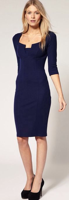 That Little Black Dress with sleeves and flattering cut...need this...