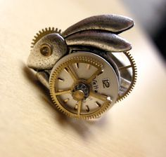 Steampunk Rabbit Ring in High Gear