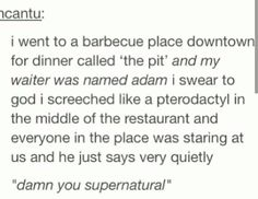 And next time on The Pit...Adam the waiter gets a name change