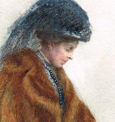Vintage/ antique Edwardian 1900s Scottish/ St. Andrews artist Ada.H.Walker, watercolour painting of an Edwardian lady - instant download by rebstuff2 on Etsy https://www.etsy.com/listing/196450888/vintage-antique-edwardian-1900s-scottish