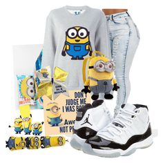 """Last Day Of School Yay!! Finally!! I Will Miss My Friends We Had Our Up & Downs But At The End Of The Day We Was Still Friends!! Minion!!"" by habso101 ❤ liked on Polyvore featuring Steve J & Yoni P and Concord"
