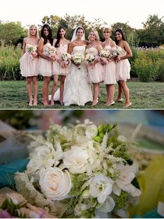 love the bridesmaids dresses from LOVELY via SMP. #bridesmaiddresses