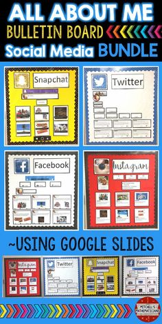 Check out these fun ways to create bulletin boards using social media. These digital, All About Me bulletin boards, are editable for your students through Google slides. There are 10 different post options for your students to choose from. They will edit the slides and then print off the pages for you to display on your bulletin board.