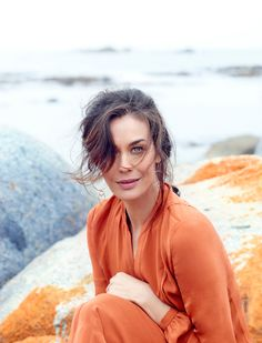 Hair and makeup by Blanka Dudas on Megan Gale for the Australian Traveller Magazine