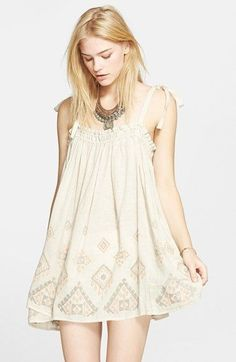 Free People 'Summer Sun' Tunic Dress available at Free People Clothing, Free People Dress, Boho Fashion, Fashion Outfits, Womens Fashion, Fashion Design, Pretty Outfits, Pretty Dresses, Nordstrom Dresses