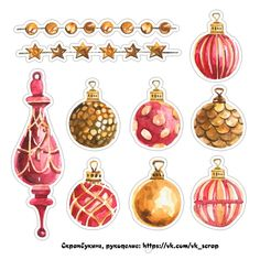 Скрапбукинг, рукоделие Watercolor Christmas Cards, Christmas Drawing, Diy Christmas Cards, Christmas Stickers, Christmas Printables, Christmas Art, Christmas Themes, Vintage Christmas, Christmas Holidays