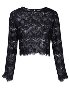 SHARE & Get it FREE | Round Neck Long Sleeve Lace TopFor Fashion Lovers only:80,000+ Items • New Arrivals Daily Join Zaful: Get YOUR $50 NOW!