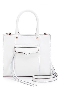 This petite take on the brand's iconic M.A.B. style comes in crisp, minimalist white. You won't find a better carryall for the season.