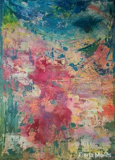 """Wooow!!! Amazing painting of abstract art by FIONA MARES! Big canvas, Title: """"Natural power abstract"""", 2017, Painting Art, Artist Fiona Mares, https://www.facebook.com/FionaMaresGallery/"""