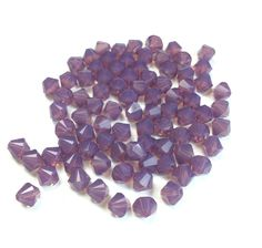 150 5mm Swarovski Crystal Cyclamen Opal Bicones 5328 (Purple Opal Color)  #Swarovski