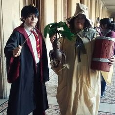 Pin for Later: Creative Costumes For Harry Potter Superfans Neville Longbottom and Professor Sprout