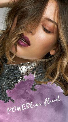 Powerlips Fluid – Edel - Makeup Tips Lips Matte Lipstick Brands, Drugstore Lipstick, Lipstick Art, Best Lipsticks, Lipstick Colors, Lip Colors, Lipstick Swatches, Liquid Lipstick, Lipstick Shades