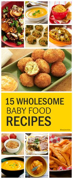 Has your baby started weaning? Looking for some wholesome & nutritious recipes to include in your baby's diet? Check top 15 yummy wholesome baby food recipes