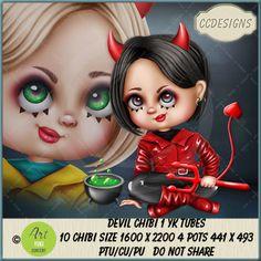 Devil Chibi 1 YK Tubes (FS/CU/PU) [CCD] : Scrap and Tubes Store, Digital Scrapbooking Supplies Chibi, Scrapbook Supplies, Digital Image, Creative Design, Digital Scrapbooking, Devil, Craft Projects, Tube, Anime