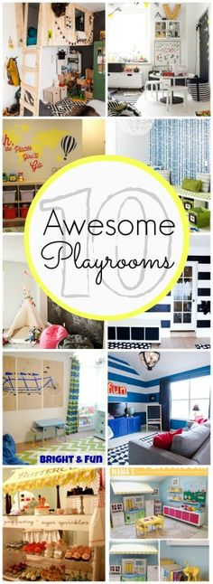 10 awesome playroom ideas - www.classyclutter.net