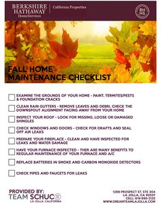8 Quick Tips For Fall Home Maintenance | Checklist