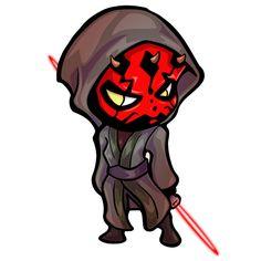 "- Fan favourite character and fan faourite sticker Darth Maul - 2.5""x4.5"" sticker"