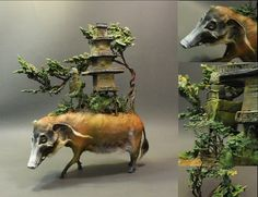 Red River Boar with Temple original OOAK by creaturesfromel, $565.00