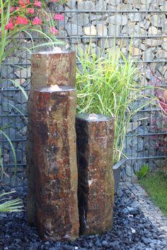 Quellstein*Sprudelstein*Wasserspiel*Naturstein*Basalt  Säulen*Gartenbrunnen*Wasser Im Garten
