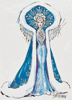 Fantasy Goddess of the Arctic Barbie - Bob Mackie Sketch Drawing - Art Dress Sketches, Fashion Sketches, Fashion Illustrations, Illustration Sketches, Mardi Gras Costumes, Carnival Costumes, Fashion Art, Vintage Fashion, Fashion Design