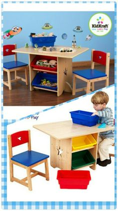 I love this activity table and toy storage. This has multiple uses and is cute too!  Walmart.com