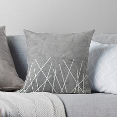 In love with this minimalistic pillow design. Perfect for modern, clean, stylish homes. Minimal Style, Minimal Fashion, Concrete Texture, Line S, Designer Throw Pillows, Pillow Design, Minimalism, Homes, Blanket