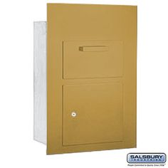 Collection Unit For 5 Door High Mailbox Units Gold Front Loading Private Access With Keys Commercial Mailboxes, Gold Fronts, 2 Keys, Filing Cabinet, Locker Storage, The Unit, Doors, Collection, Vanity Cabinet