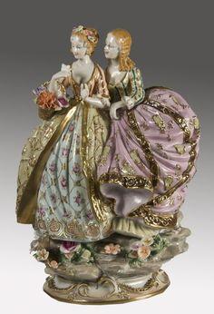 porcelanas antiguas - Buscar con Google dos damas