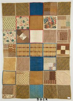 Here's the back of the Civil War soldiers quilt from the collection of the NE Quilt Museum.