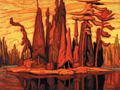 The Group of Seven · Le Groupe des Sept Group Of Seven Artists, Group Of Seven Paintings, Canadian Painters, Canadian Artists, Landscape Art, Landscape Paintings, Landscapes, Tree Paintings, Emily Carr Paintings