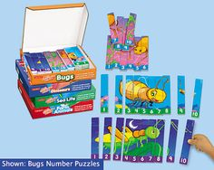 Number Sequencing Puzzles - Complete Set at Lakeshore Learning